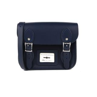 【The Leather Satchel Co.】8.5吋 英國手工牛皮劍橋包 肩背包(湖泊藍)