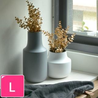 【Meric Garden】日式創意啞光釉陶瓷花瓶/花器(莫蘭迪灰L)