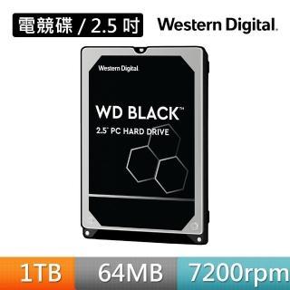 【WD 威騰】WD10SPSX 黑標 1TB 2.5吋硬碟(7mm)