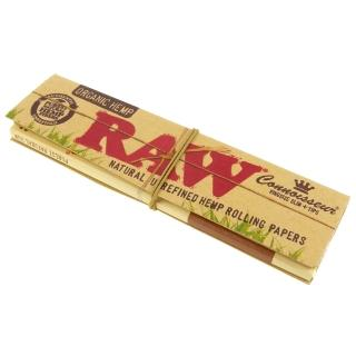 【RAW】ORGANIC HEMP CONNOISSEUR KINGSIZE-捲煙紙+自捲式紙濾嘴(3包入)