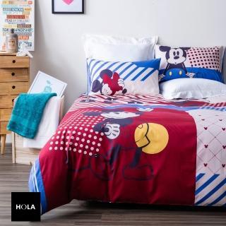 【HOLA】復古米奇純棉西寢床被組 雙人