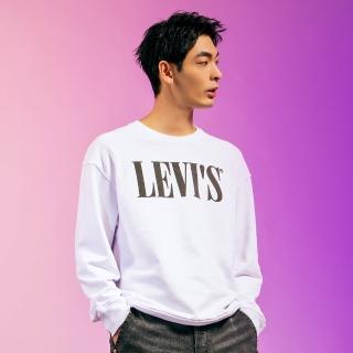【LEVIS】男款 重磅大學T / 歐系Serif Logo / 春夏形象款
