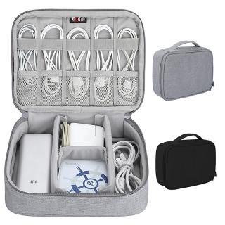 單層加高版 多功能3C收納包 大容量手提筆電配件包 行動電源滑鼠變壓器耳機充電線材周邊 數位整理包
