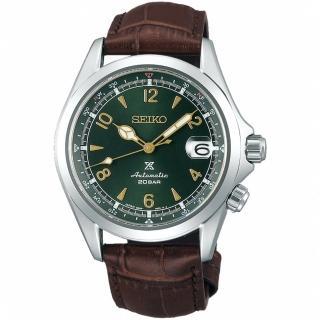 【SEIKO 精工】PROSPEX 復古時尚動力儲存機械錶-綠x咖啡(6R35-00E0G/SPB121J1)