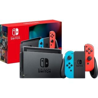 【Nintendo 任天堂】Switch 新型續航力加強版主機 電光紅藍(台灣公司貨)