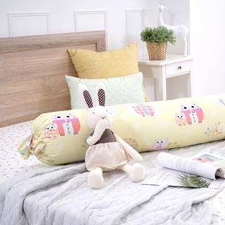 【IN-HOUSE】繽紛貓頭鷹糖果長抱枕(黃-35x125cm)
