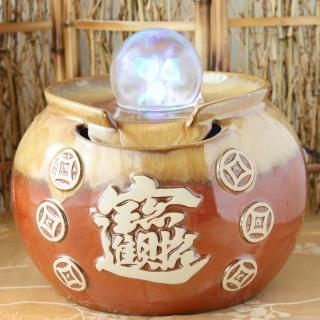 【開運納福】年年發財陶瓷滾球流水組(台灣製)