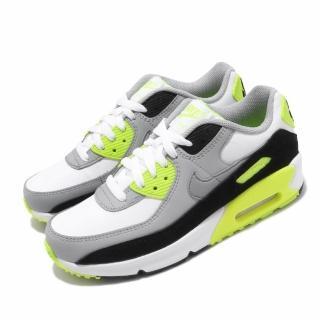 【NIKE 耐吉】休閒鞋 Air Max 90 LTR 運動 女鞋 經典款 氣墊 舒適避震 球鞋 大童 穿搭 灰 黃(CD6864-101)