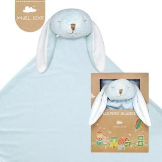 【Angel Dear】大頭動物嬰兒毛毯禮盒(藍色小兔-藍藍)