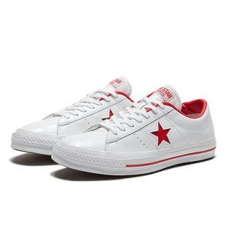 【CONVERSE】CONVERSE ONE STAR HANBYEOL OX WHITE/EGRET 男女休閒鞋 白紅皮革(167326C)