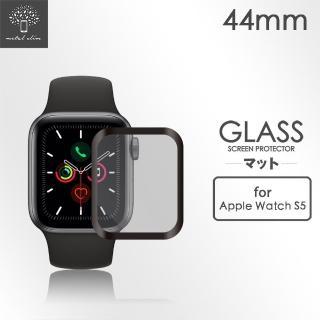【Metal-Slim】Apple Watch Series 5 44mm(3D全膠滿版鋼化玻璃保護貼)