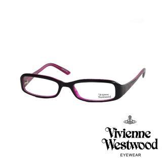 【Vivienne Westwood】英倫搖滾龐克星星光學眼鏡(黑/桃紅 VW203_03)