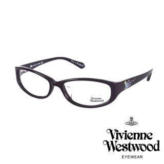 【Vivienne Westwood】施華洛世奇鑽土星點綴款光學眼鏡(深咖啡 VW260_04)