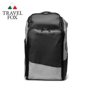 【TRAVEL FOX 旅狐】悠遊旅人大容量旅行商務後背包(TB802-60 黑灰色)