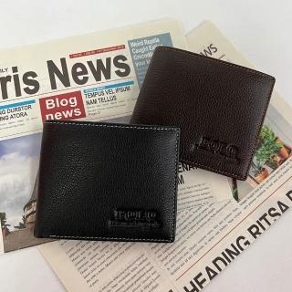 【LN 精品皮件】polo聖保羅男用真皮時尚簡約短夾(有紙盒包裝)