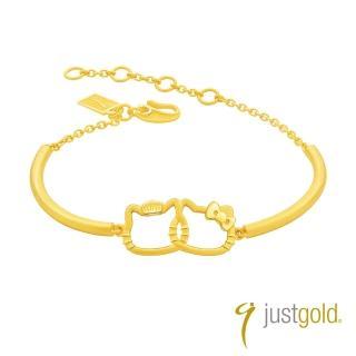 【Just Gold 鎮金店】Kitty & Daniel 愛的約定 黃金手環