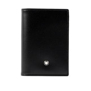 【MONTBLANC 萬寶龍】牛皮經典款名片/卡片夾(黑色)