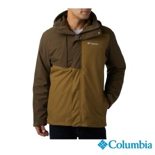 【Columbia 哥倫比亞】男款-Omni-TECH 防水鋁點保暖兩件式外套-軍綠(UEE15170AG / 機能.防水.發熱)