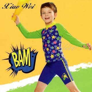 【小薇的店】兒童長袖兩件式泳裝(NO.E87869)