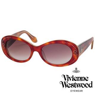 【Vivienne Westwood】英倫水鑽土星基本款太陽眼鏡(琥珀 VW624_02)