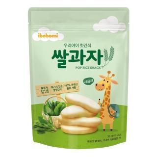 【ibobomi】嬰兒米餅30g(原味/蘋果/菠菜/紫薯/海苔/藍莓)