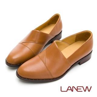 【La new】SO Lite 彈力減壓 紳士風格 低跟樂福鞋 懶人鞋(女01250441)