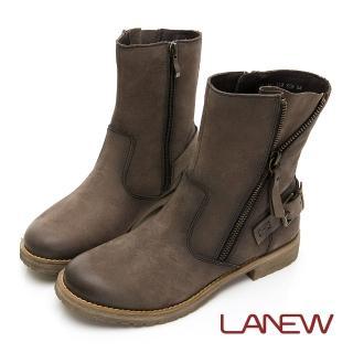 【La new】率性風格中筒靴 平底靴(女41250491)
