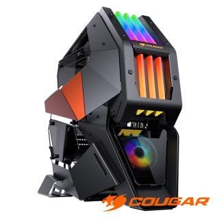 【COUGAR 美洲獅】CONQUER2 整合式RGB炫彩燈效 4片鋼化玻璃側蓋 頂級電競機箱(可拆卸內機殼)