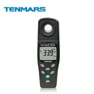 【Tenmars 泰瑪斯】TM-205 自動換檔照度錶(照度錶 照度計)
