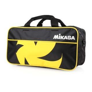 【MIKASA】球袋-兩顆裝-排球 運動袋 手提袋 肩背袋 裝備袋 黑黃白(MKVL2C-BKY)