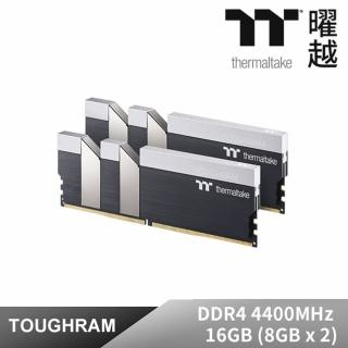 【Thermaltake 曜越】TOUGHRAM記憶體DDR4 4400MHz 16GB 8GBx2(R017D408GX2-4400C19A)