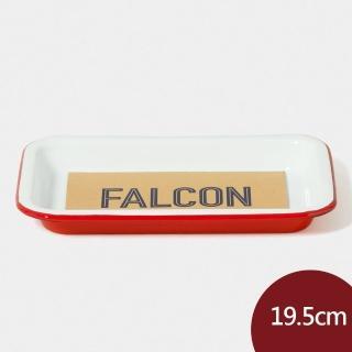 【Falcon】獵鷹琺瑯  小托盤 紅白 19.5cm