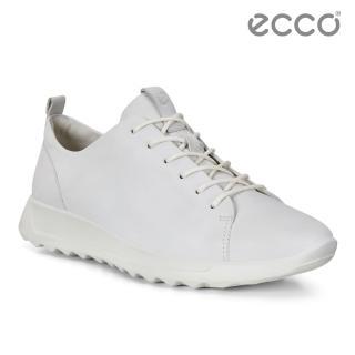 【ecco】FLEXURE RUNNER W 隨型彈力運動休閒鞋 女(白 29230301007)