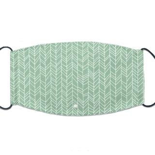 【IHERMI】綠色竹林 個性口罩 台灣製(耐用 舒適 透氣 可水洗 重複使用 創意 幾何 清新)