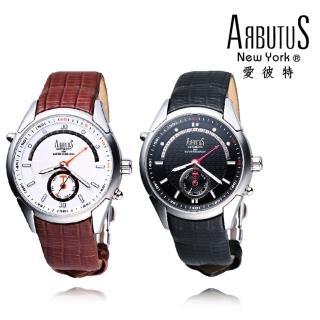 【ARBUTUS愛彼特】飛返式逆指針典雅男性腕錶機械錶 AR0085