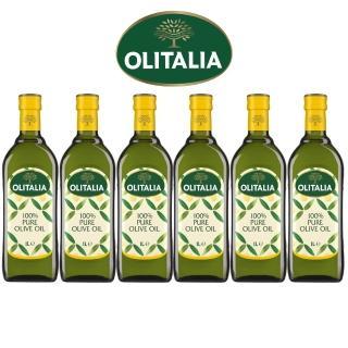 【Olitalia 奧利塔】純橄欖油1000mlx6瓶(禮盒組)