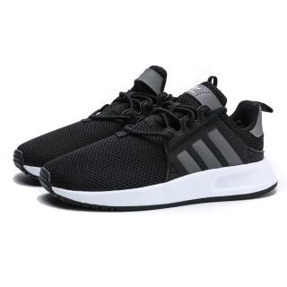 【adidas 愛迪達】KID X_PLR 黑白 綁帶 運動 輕量 慢跑 中童(CG6830)