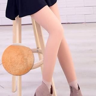 【Threeshape】韓國光腿神器假透膚超顯瘦厚絨踩腳襪(亮腿膚)