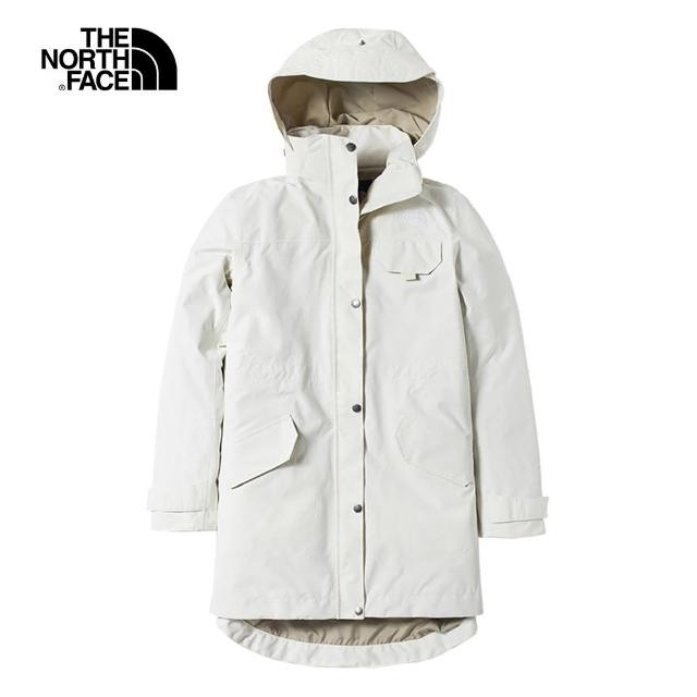 【The North Face】The North Face北面女款米色防水透氣衝鋒衣|497C11P