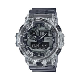 【CASIO 卡西歐】G-SHOCK 樹脂錶帶 防水200米 超亮LED照明(GA-700SK-1A)