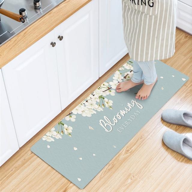 【2020新款/半島良品】台灣出產/加長款/頂級防油防滑皮革地墊45x150cm(居家佈置