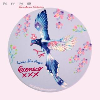 【傑作陶藝】ECONECO Taiwan Blue Magpie coaster 台灣藍鵲 陶瓷吸水杯墊(E16)