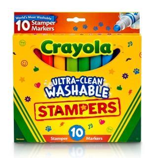 【crayola 繪兒樂】可水洗印章色筆10色
