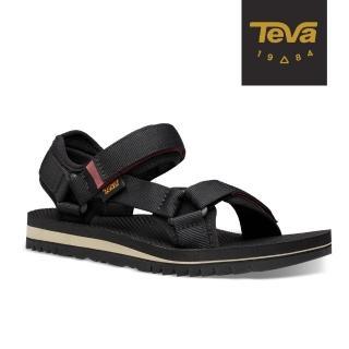 【TEVA】原廠貨 女 Universal Trail 多功能經典運動涼鞋/雨鞋/水鞋(黑色-TV1107709BLK)
