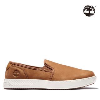 【Timberland】男款銹鐵棕磨砂革輕質帆船鞋(A2HS1F13)