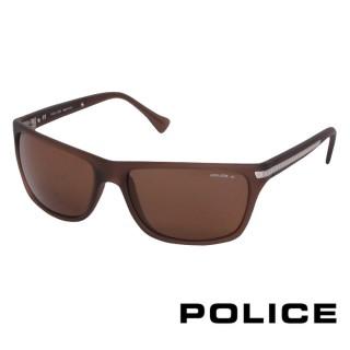 【POLICE】都會時尚太陽眼鏡(咖啡色 POS1802-B36P)