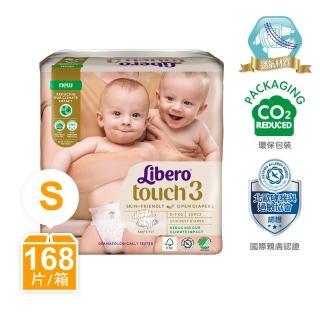【麗貝樂】Touch嬰兒尿布/紙尿褲 3號(S-28片x6包/箱購)