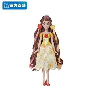 【Disney 迪士尼】12吋公主(髮飾裝扮組-貝兒 E6673)