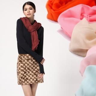 【ZANA】100%喀什米爾羔羊絨  200支紗超大規格精品超輕薄馬卡龍色戒指絨 羔羊絨披肩 圍巾(2款任選)