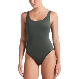【NIKE 耐吉】女泳裝 連身泳裝 U-Back連身 綠 NESSA223-303(女連身)